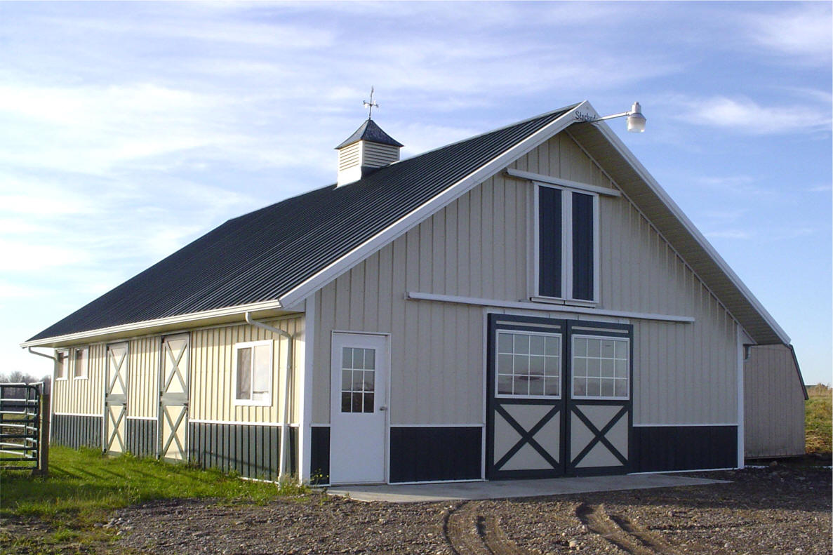 All the questions you have about prefab barns answered for Horse barn materials